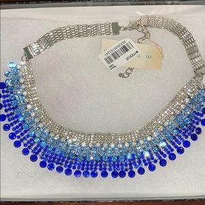 Three Tier Blue Statement Necklace INC Macy's